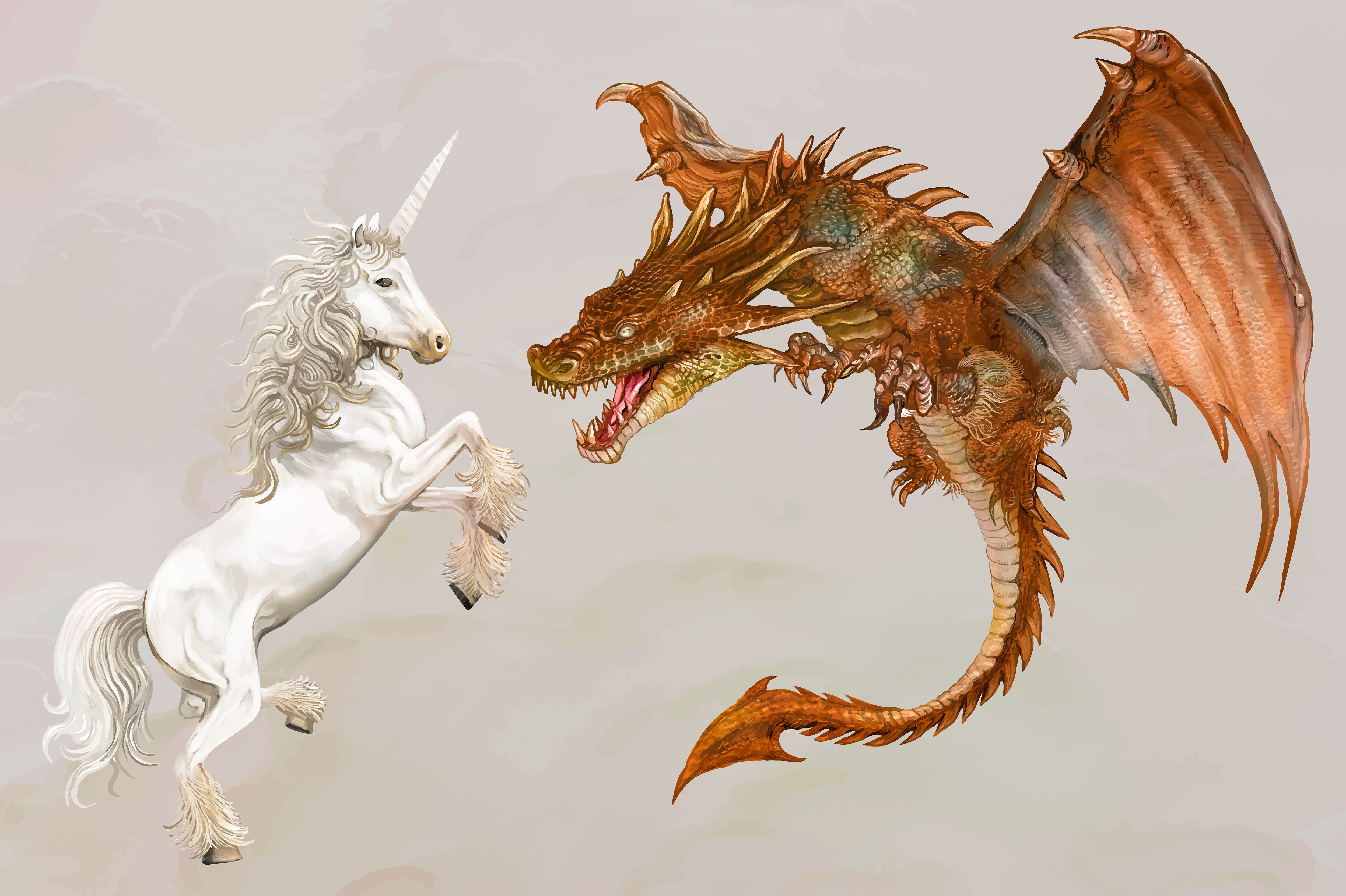 Unicorn & Dragon